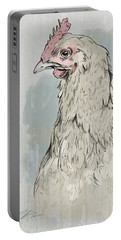 Chicken Portrait-farm Animals Portable Battery Charger