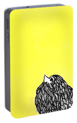 Portable Battery Charger featuring the painting Chickens Four by Jason Tricktop Matthews