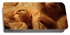 Portable Battery Charger featuring the photograph Chicks by Mary Machare