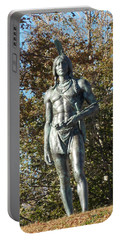 Chief Massasoit Portable Battery Charger by Catherine Gagne