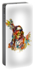Chief Mojo Watercolor Portable Battery Charger by Marian Voicu