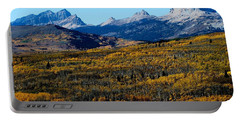 Chief Mountain In The Fall Portable Battery Charger