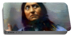 Chief Oglala Left Hand Bear Portable Battery Charger by Wbk