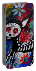 Chihuahua Day Of The Dead Portable Battery Charger by Pristine Cartera Turkus