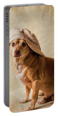 Chihuahua In A Newsboy Hat Portable Battery Charger