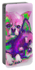 Chihuahua Love Portable Battery Charger by Jane Schnetlage