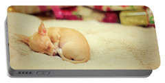 Chihuahua Puppy Christmas Dreams Portable Battery Charger