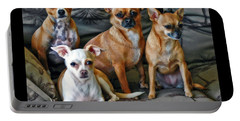 Chihuahuas Hanging Out Portable Battery Charger