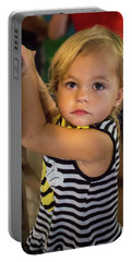 Portable Battery Charger featuring the photograph Child In The Light by Bill Pevlor