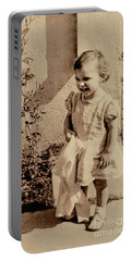 Portable Battery Charger featuring the photograph Child Of 1940s by Linda Phelps