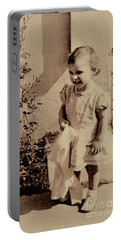 Portable Battery Charger featuring the photograph Child Of  The 1940s by Linda Phelps