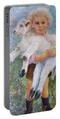 Child With A Lamb Portable Battery Charger