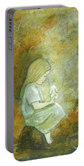 Childhood Wishes Portable Battery Charger by Terry Honstead