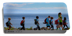 Children On Lake Walk Portable Battery Charger