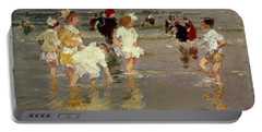 Children On The Beach Portable Battery Charger by Edward Henry Potthast