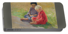 Children Playing Portable Battery Charger by Nikolay Petrovich-Belsky