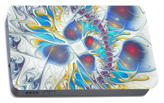 Portable Battery Charger featuring the digital art Child's Play by Anastasiya Malakhova