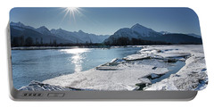 Chilkat River With Ice Chunks Portable Battery Charger