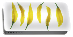 Chillies Lined Up II Portable Battery Charger