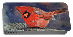 Chilly Bird Christmas Card Portable Battery Charger