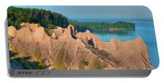 Chimney Bluffs 1750 Portable Battery Charger by Guy Whiteley