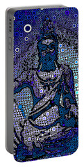 China Contemplation On Antiquity Portable Battery Charger by Saundra Myles