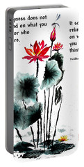 China Garden With Buddha Quote Portable Battery Charger