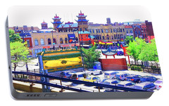 Portable Battery Charger featuring the photograph Chinatown Chicago 1 by Marianne Dow