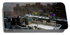 Portable Battery Charger featuring the photograph Chinatown Rooftops In Winter by Chris Lord
