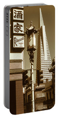 San Francisco Chinatown And Pyramid Portable Battery Charger