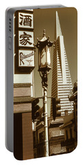 Chinatown San Francisco - Vintage Photo Art Portable Battery Charger