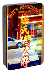 Portable Battery Charger featuring the photograph Chinatown Window Reflection 1 by Marianne Dow