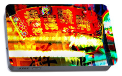 Portable Battery Charger featuring the photograph Chinatown Window Reflection 4 by Marianne Dow