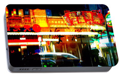 Portable Battery Charger featuring the photograph Chinatown Window Reflections 2 by Marianne Dow