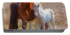 Chincoteague Mare And Foal Portable Battery Charger