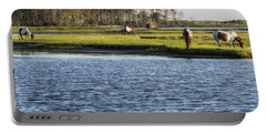Chincoteague Ponies On Assateague Island Portable Battery Charger