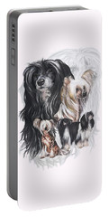 Chinese Crested And Powderpuff W/ghost Portable Battery Charger by Barbara Keith
