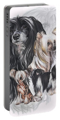 Chinese Crested And Powderpuff Medley Portable Battery Charger