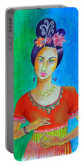 Chinese Dancer -- The Original -- Portrait Of Asian Woman Portable Battery Charger