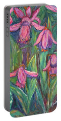 Portable Battery Charger featuring the painting Chinese Orchids by Kendall Kessler