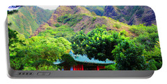 Portable Battery Charger featuring the photograph Chinese Pagoda In Maui by Michael Rucker