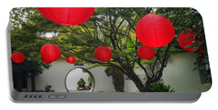 Chinese Tea Garden In Portland, Oregon Portable Battery Charger