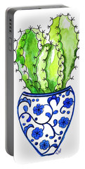 Chinoiserie Cactus No3 Portable Battery Charger