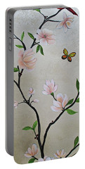 Chinoiserie - Magnolias And Birds #3 Portable Battery Charger