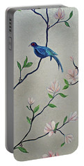 Chinoiserie - Magnolias And Birds #4 Portable Battery Charger