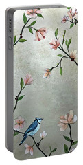 Chinoiserie - Magnolias And Birds Portable Battery Charger