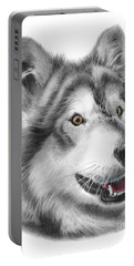 Portable Battery Charger featuring the drawing Chinook by Peter Piatt