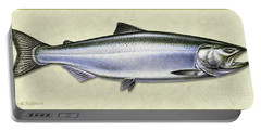 Chinook Salmon Id Portable Battery Charger