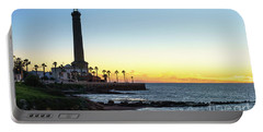 Chipiona Lighthouse Cadiz Spain Portable Battery Charger by Pablo Avanzini