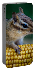 Chipmunk Goes Wild For Corn Portable Battery Charger
